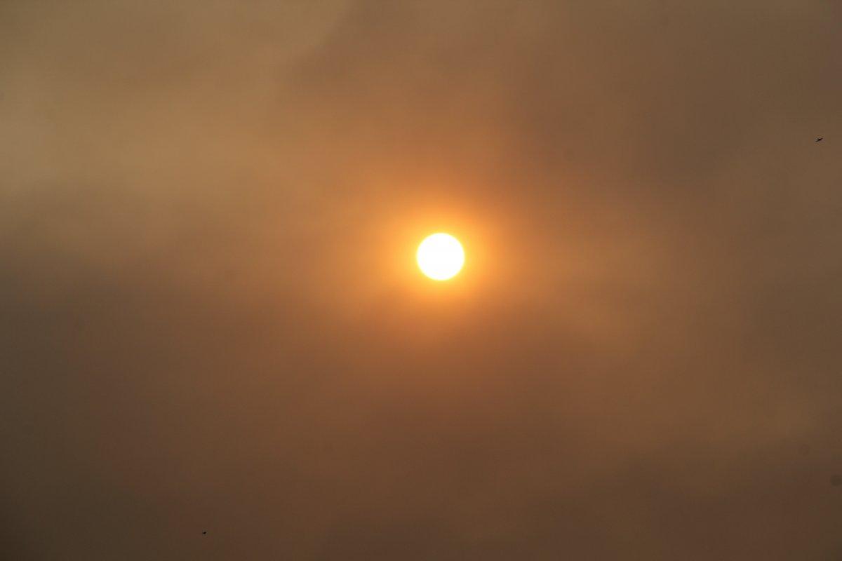 Bölgedeki yangınlar, İzmir den Çanakkale ye kadar gökyüzü rengini değiştirdi #10