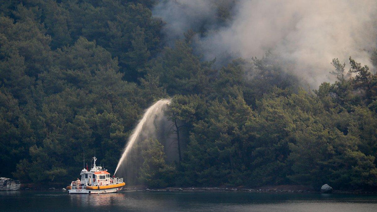 Marmaris teki yangınlar tamamen söndürüldü #2