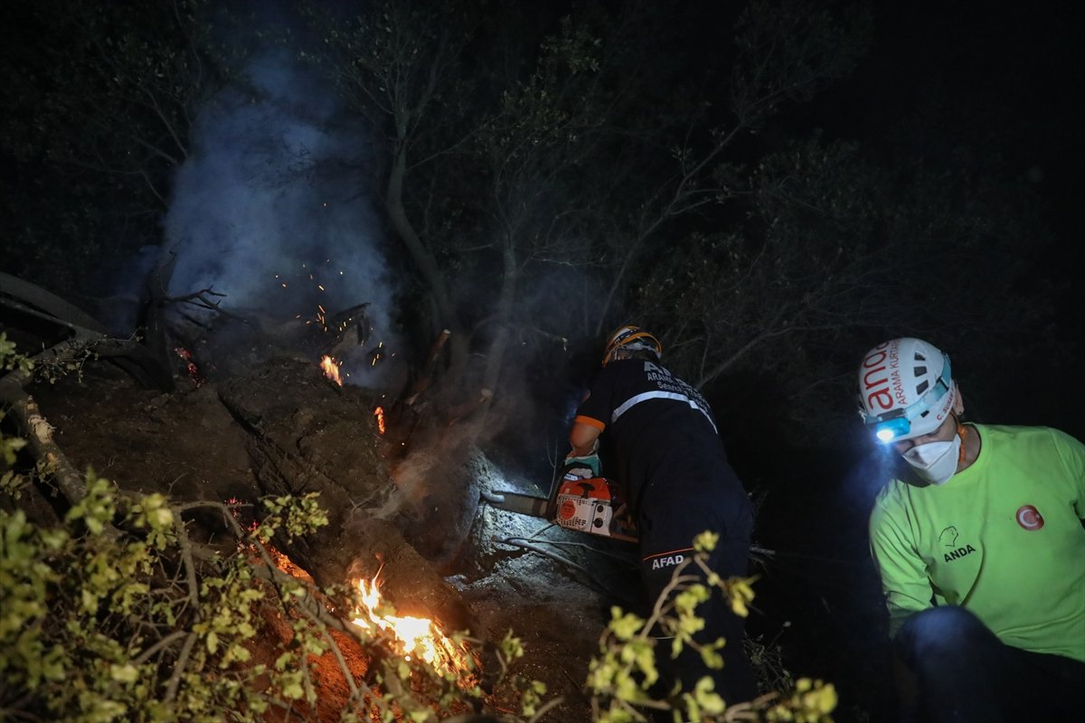 Aydın daki orman yangınına müdahaleler devam ediyor #3