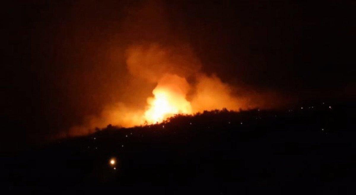 Çine de çıkan orman yangını nedeniyle 6 mahalle boşaltıldı #3