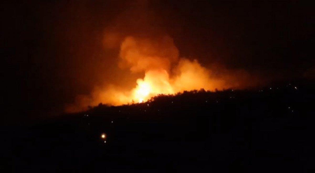 Çine de çıkan orman yangını nedeniyle 6 mahalle boşaltıldı #5