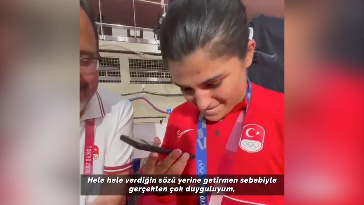 Cumhurbaşkanı Erdoğan dan Busenaz Sürmeneli ye tebrik telefonu #1