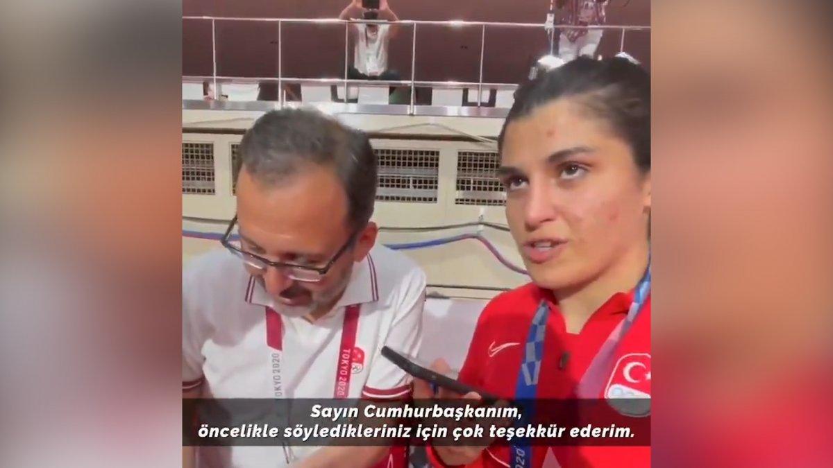 Cumhurbaşkanı Erdoğan dan Busenaz Sürmeneli ye tebrik telefonu #2