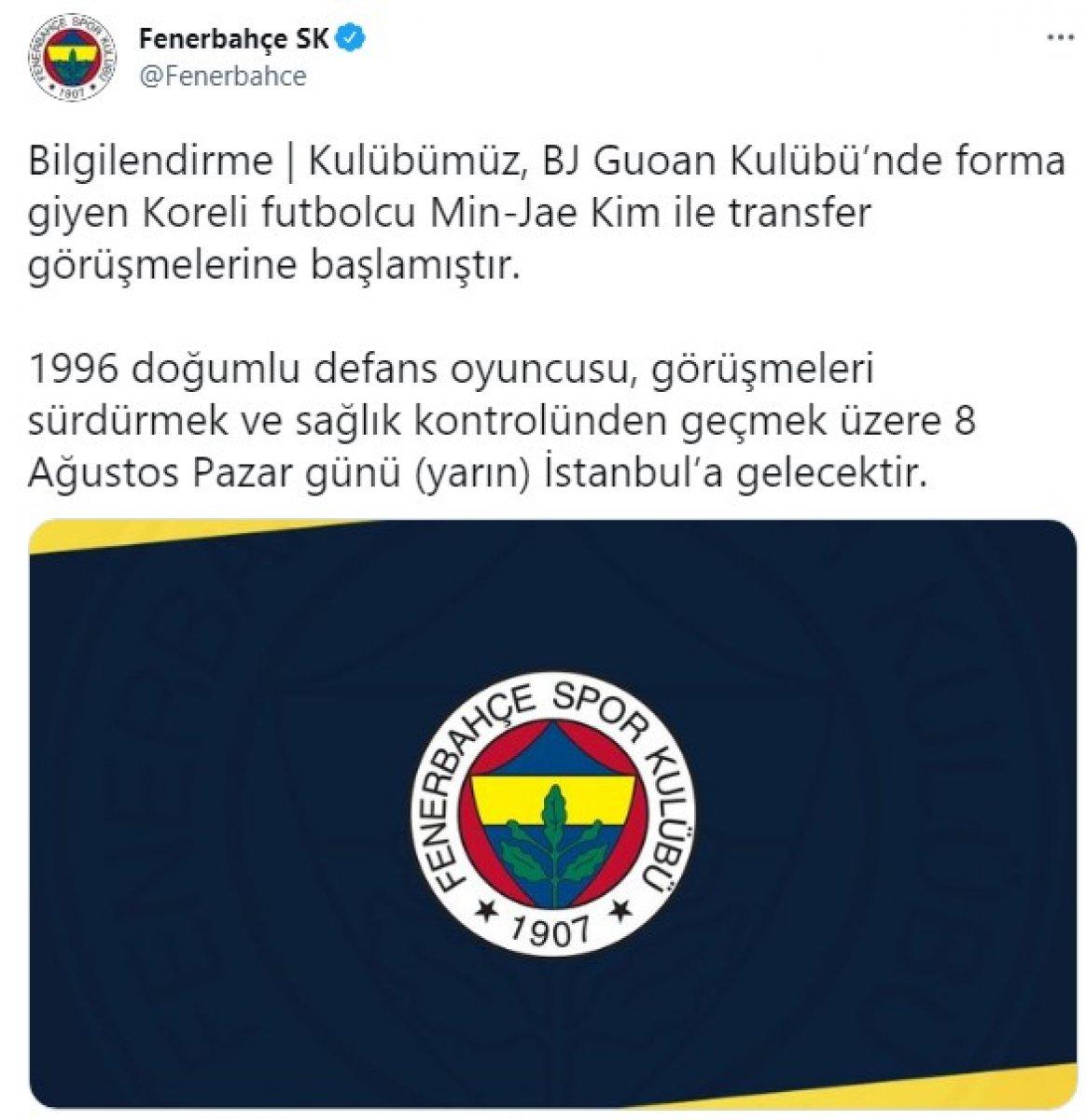 Fenerbahçe, Koreli futbolcu Min-Jae Kim i açıkladı #2