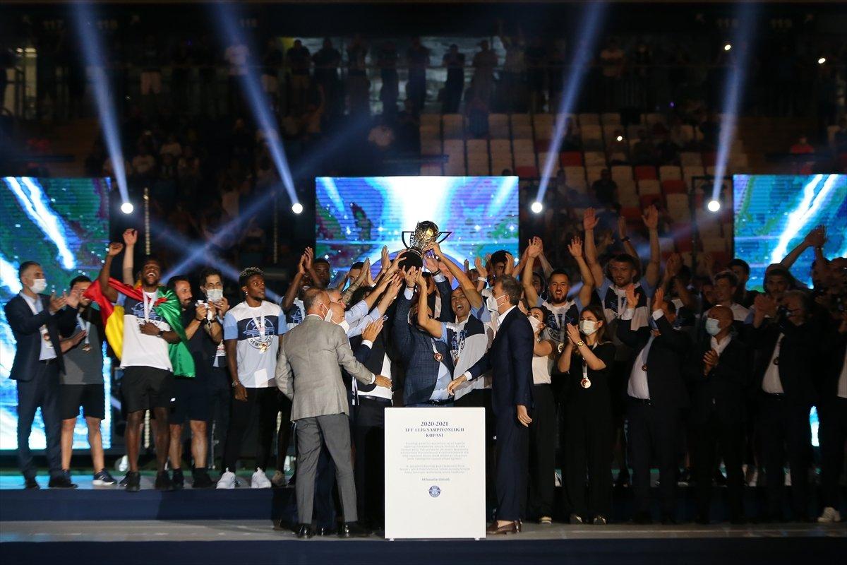 Adana Demirspor şampiyonluk kupasını kaldırdı #5