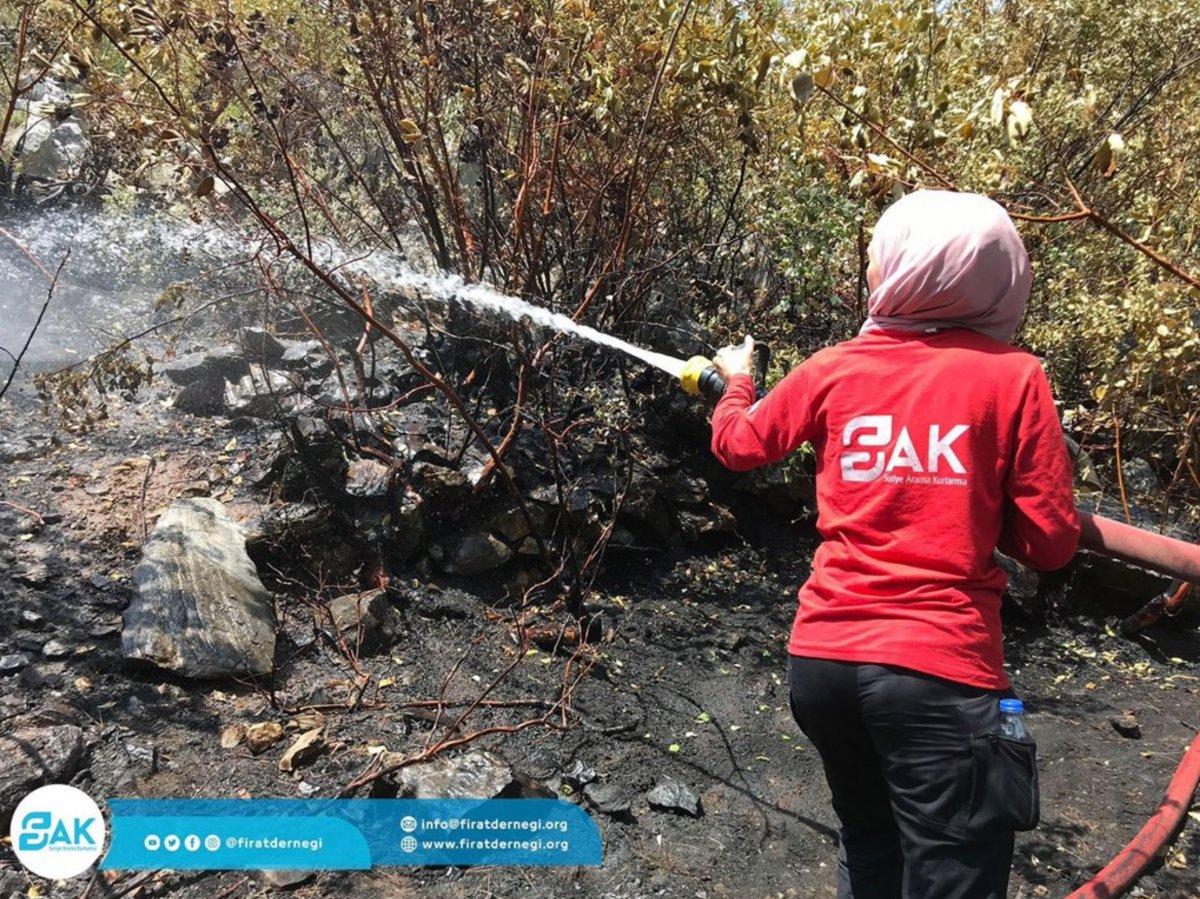 Suriyeliler, yangınlarla mücadele için Türkiye ye geldi #2
