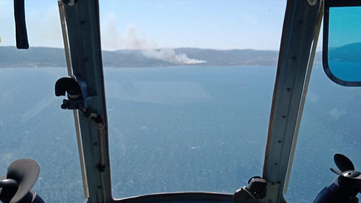 İzmir Urla da orman yangını #4