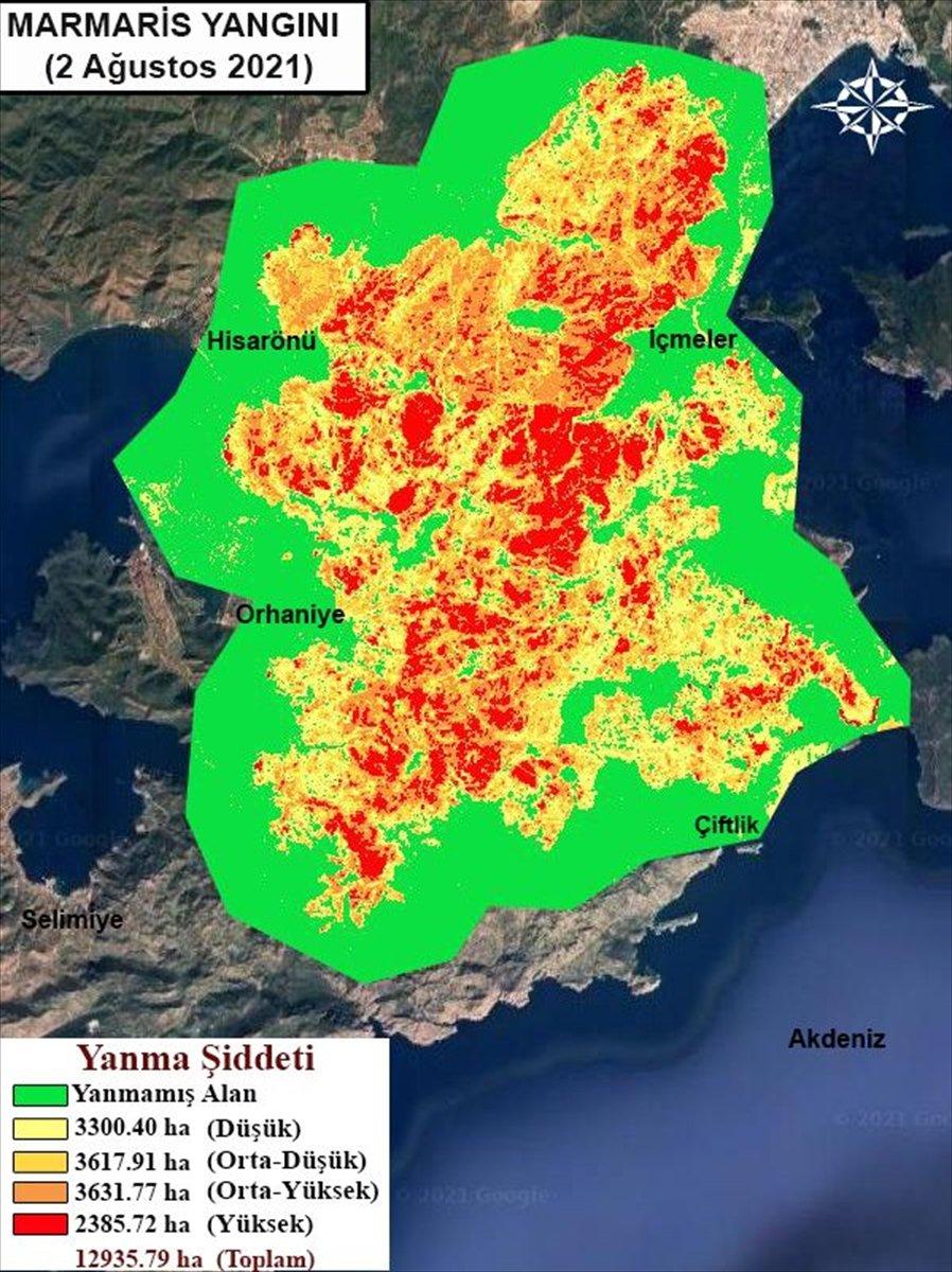 Orman yangınlarının etkili olduğu alanlar haritalandırıldı #3