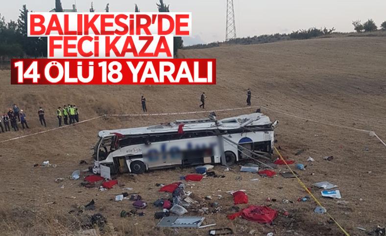 Balıkesir'de yolcu otobüsü devrildi: 14 ölü