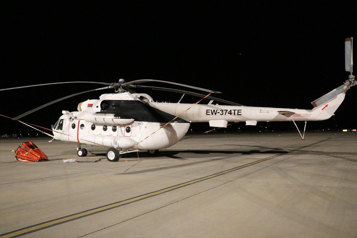 Muğla da gece görüşlü helikopterler yangına müdahale ediyor #3