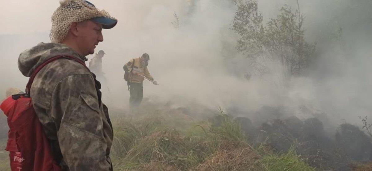 Sibirya daki orman yangınları yerleşim yerlerine ilerliyor #3