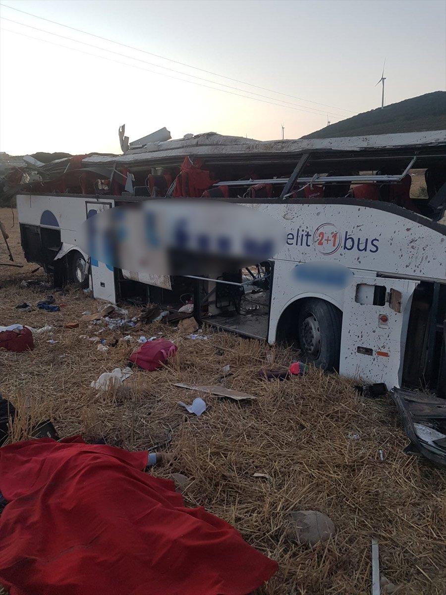 Balıkesir de yolcu otobüsü devrildi: 14 ölü #2