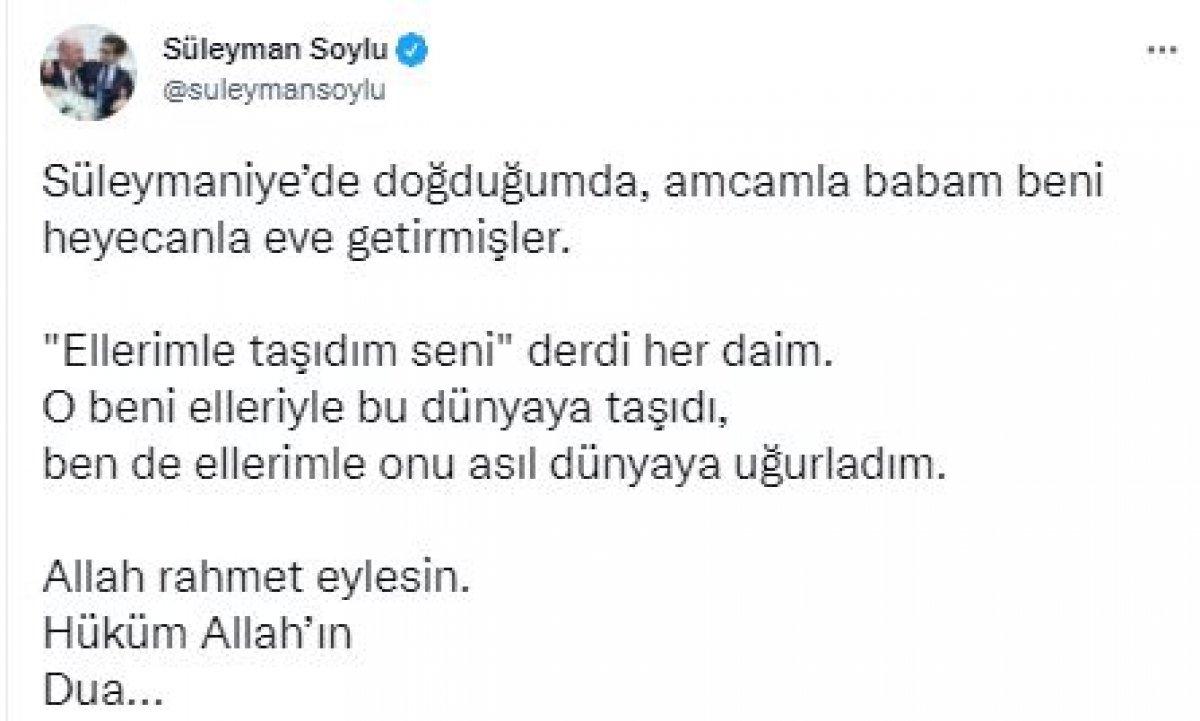 Süleyman Soylu'nun amcası Hüseyin Soylu, son yolculuğuna uğurlandı #3