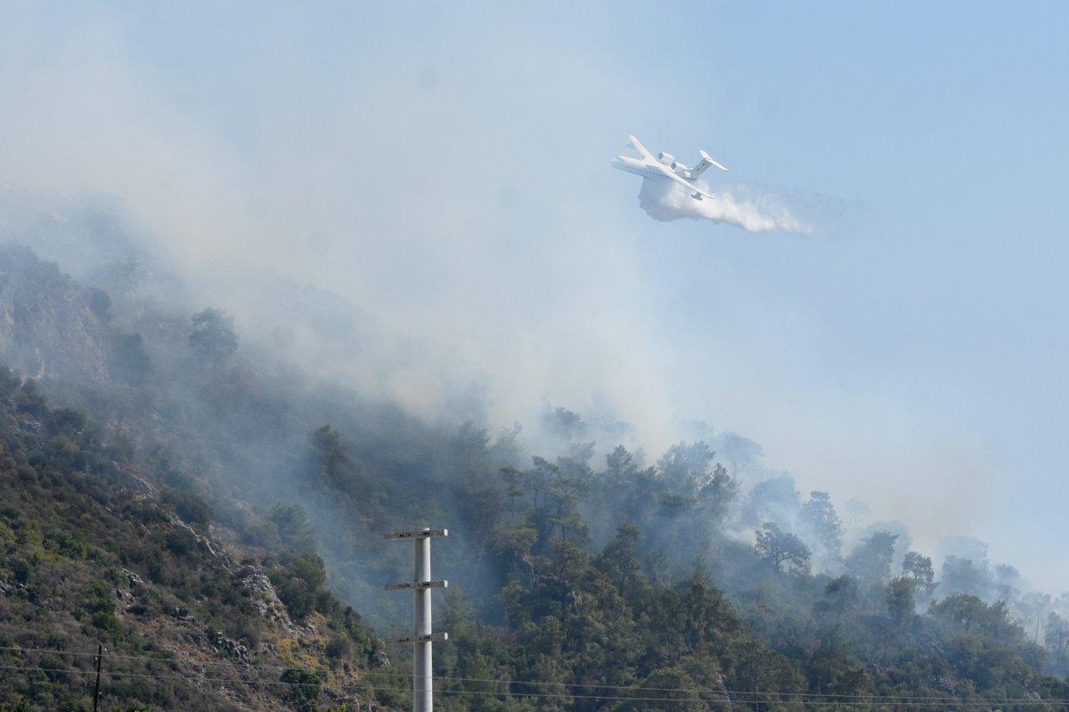 Dalaman da orman yangını çıktı #7