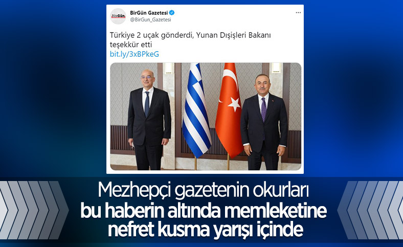 Birgün gazetesi okuyucuları, Yunanistan'a yardım eli uzatan Türkiye'yi eleştirdi