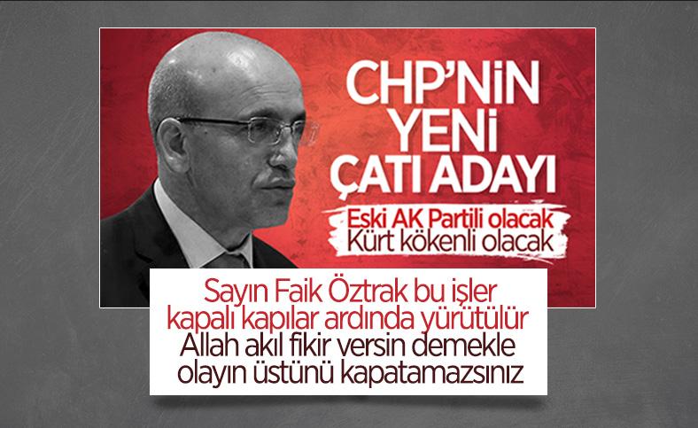 Faik Öztrak'tan CHP'nin adayı Mehmet Şimşek iddiasına yanıt