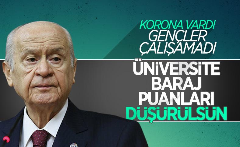 Devlet Bahçeli: Üniversite sınavları kaldırılsın, baraj düşürülsün