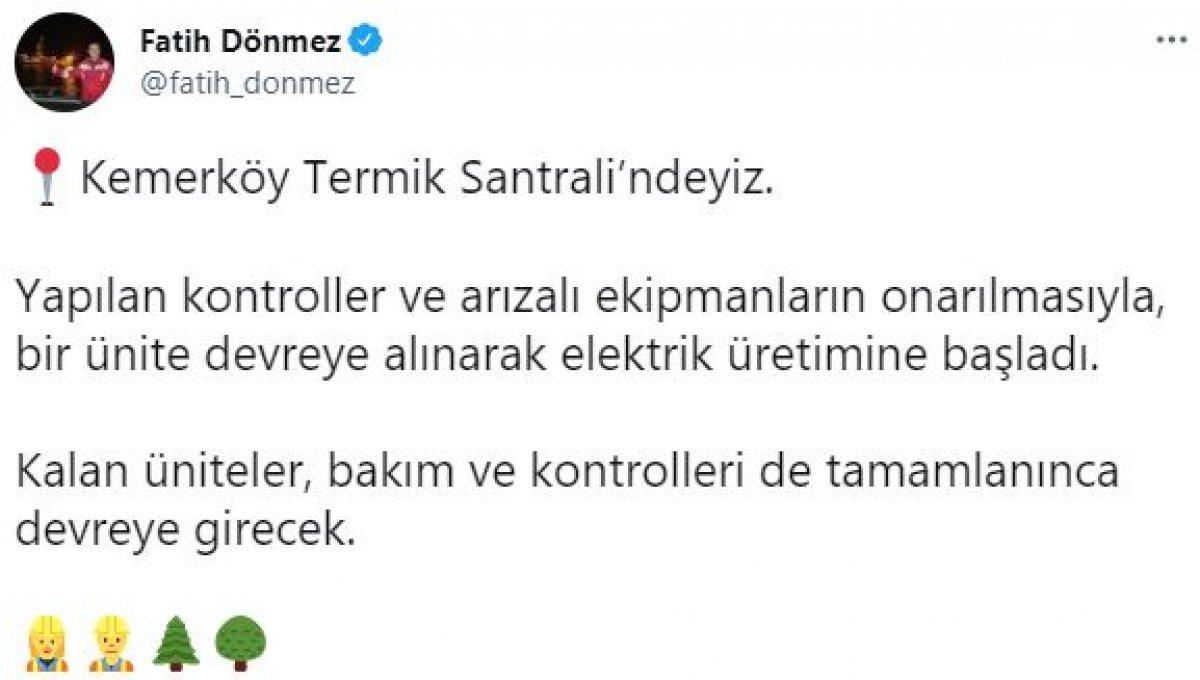 Kemerköy Termik Santrali yeniden devreye alındı #5