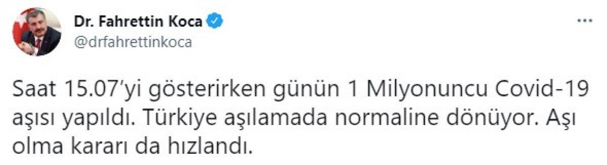 Fahrettin Koca: Türkiye, aşılamada normaline dönüyor #1