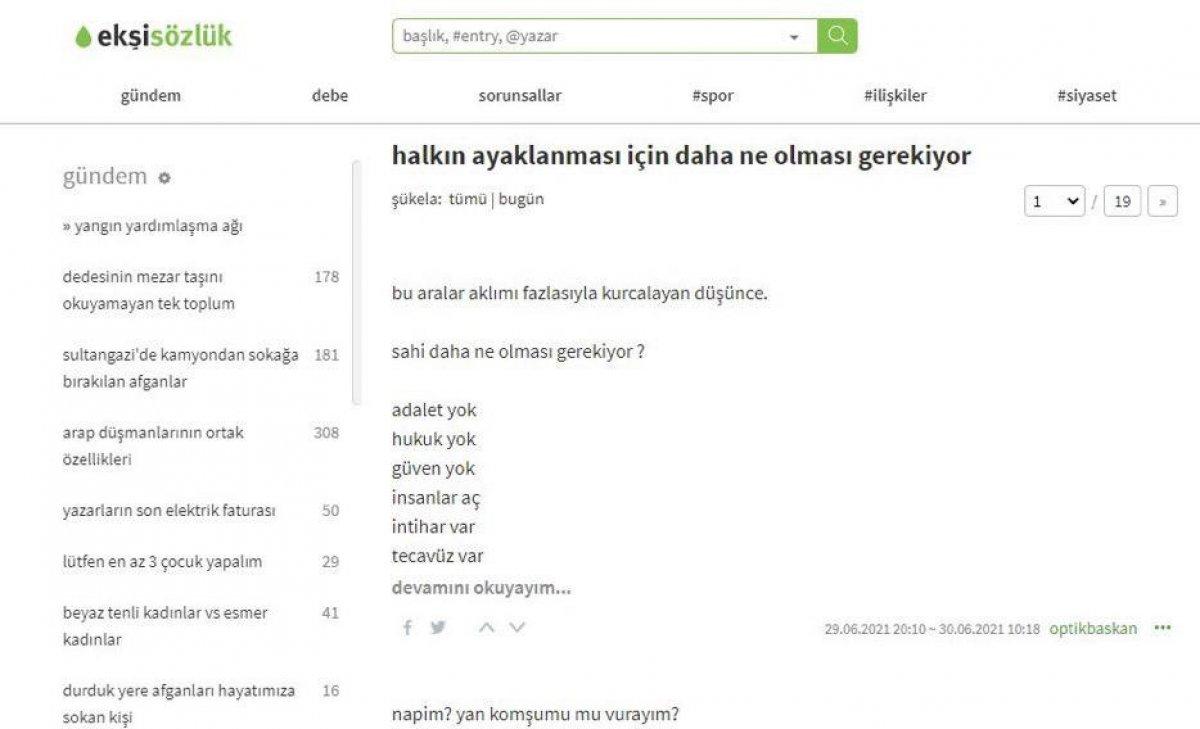 İstanbul Cumhuriyet Başsavcılığı ndan Ekşi Sözlük e soruşturma #1