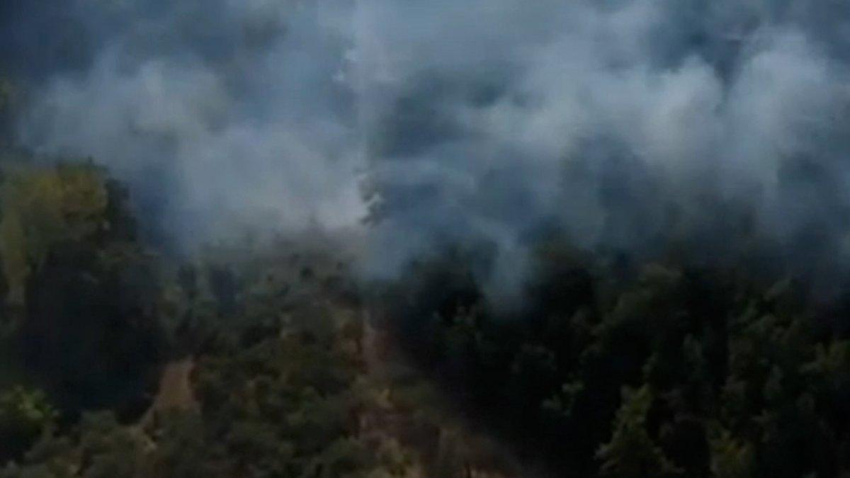 İtalya da yangın çıkaran kundakçı, kameraya yakalandı #3