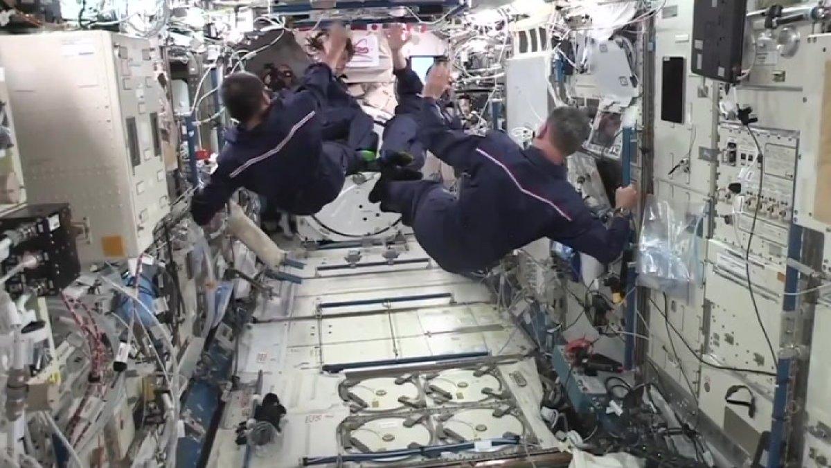 Uluslararası Uzay İstasyonu nda uzay oyunları yapıldı #3
