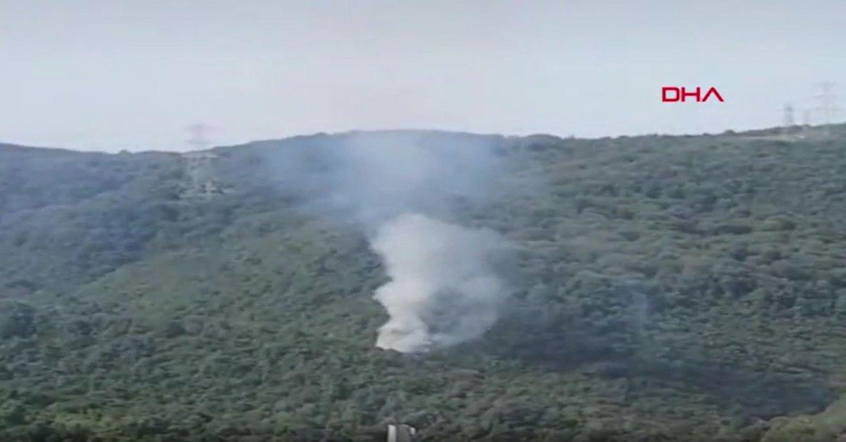 Sarıyer de orman yangını #1