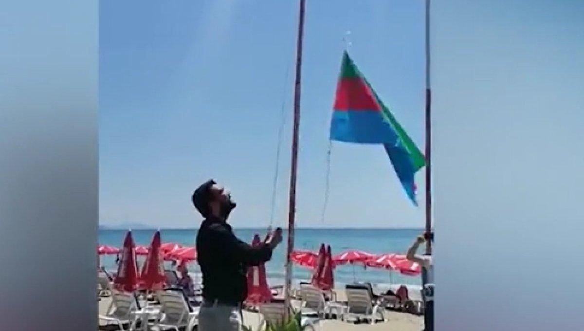 Alanya daki Afgan bayrağını indirdiler #1