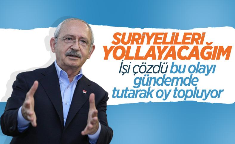 Kemal Kılıçdaroğlu: Sığınmacı sorununu çözeceğiz
