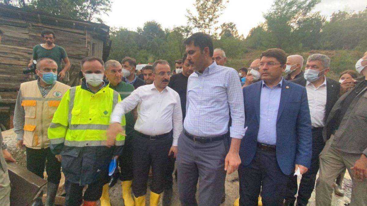Murat Kurum, sel felaketinin yaşandığı Bartın'da #3
