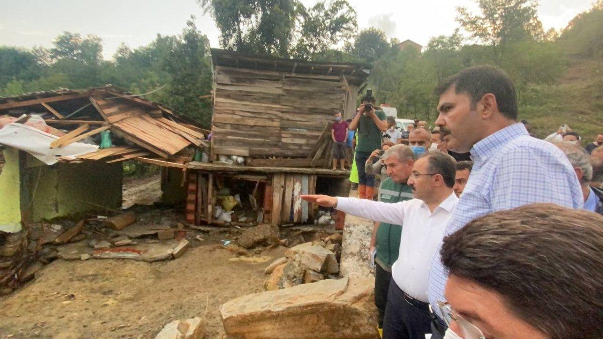 Murat Kurum, sel felaketinin yaşandığı Bartın'da #2
