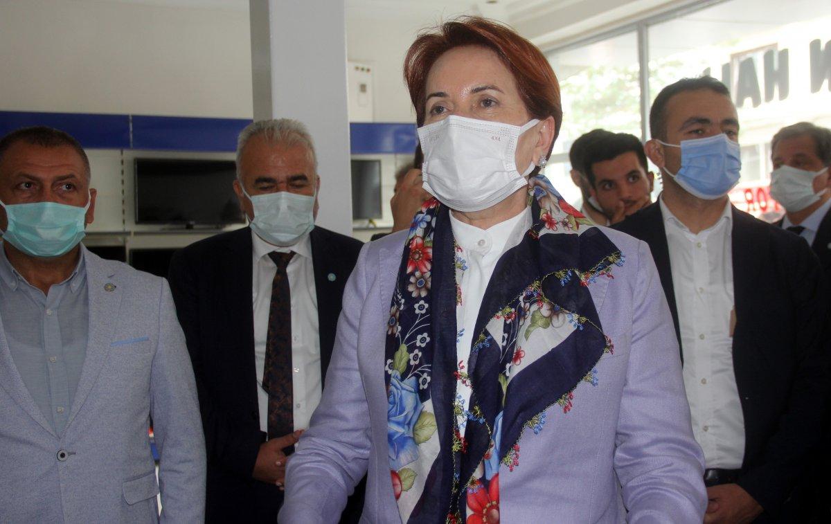 Meral Akşener'in Erzincan ziyaretinde gergin anlar #1