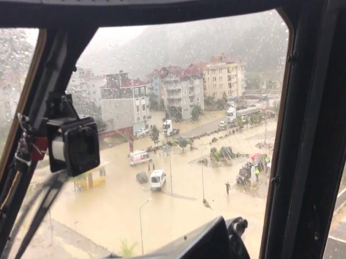 MSB den Sinop ve Kastamonu daki sel bölgesinde tahliye çalışması #2