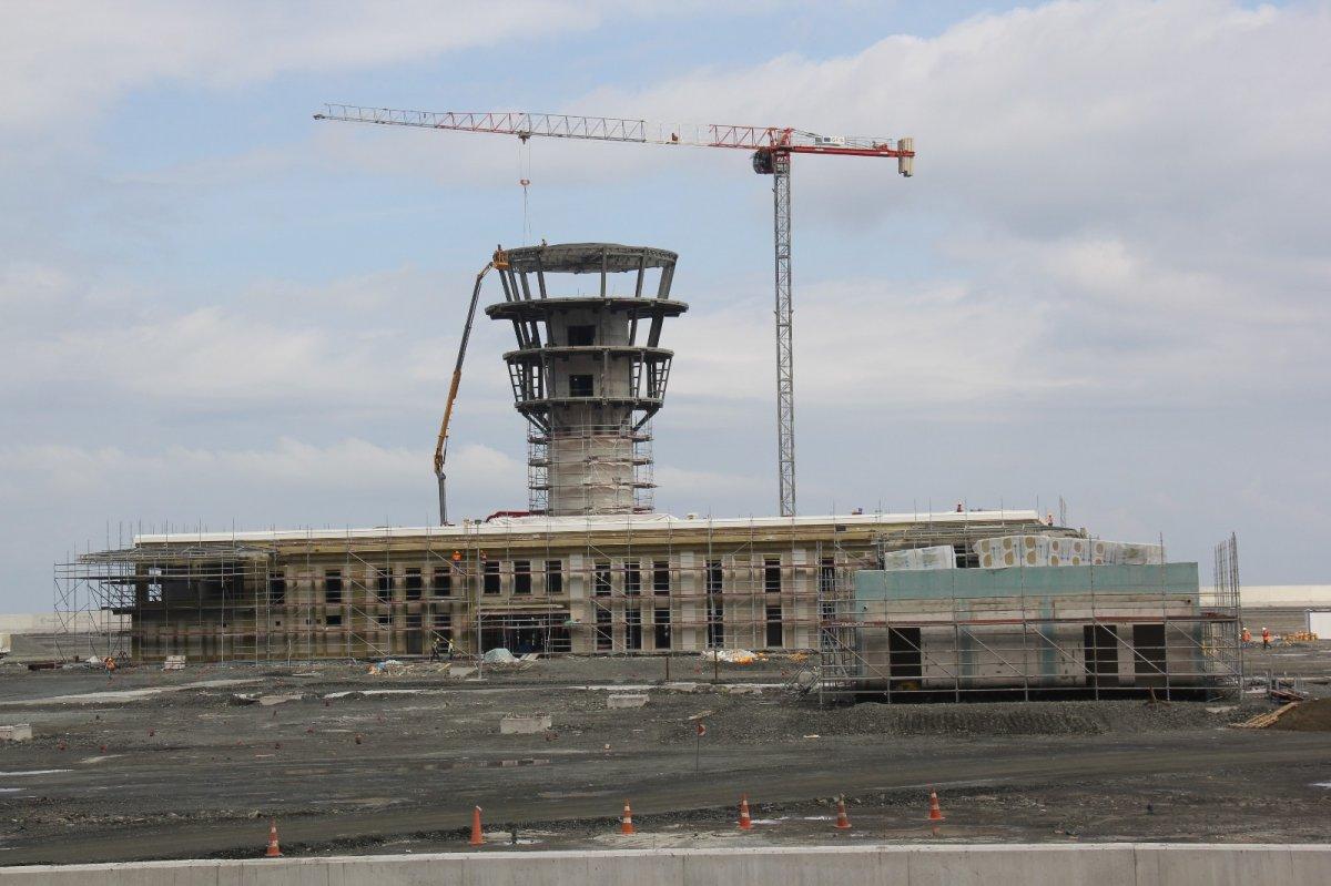 Rize-Artvin Havalimanı'nın uçuş kulesi ortaya çıkmaya başladı #2