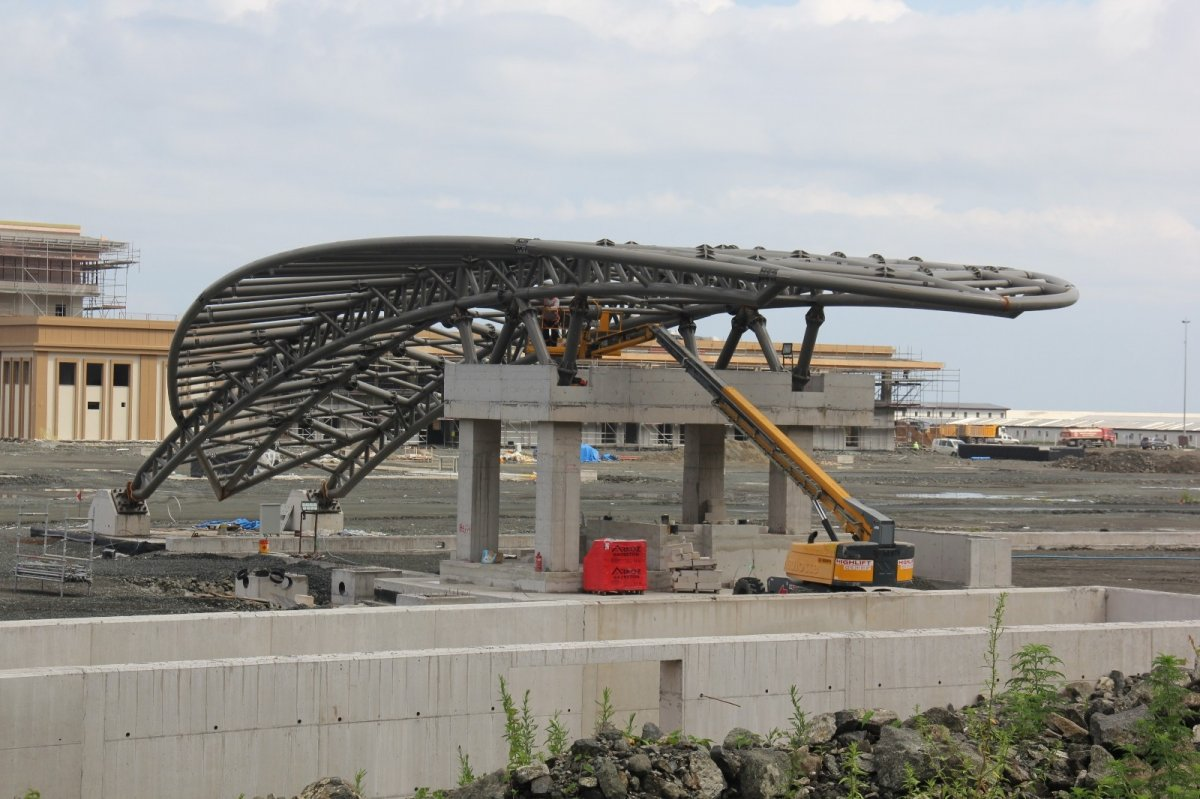 Rize-Artvin Havalimanı'nın uçuş kulesi ortaya çıkmaya başladı #9