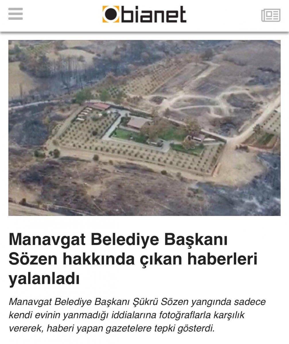 Şükrü Sözen, villası hakkında çıkan haberleri muhalif medya aracılığıyla yalanladı #1