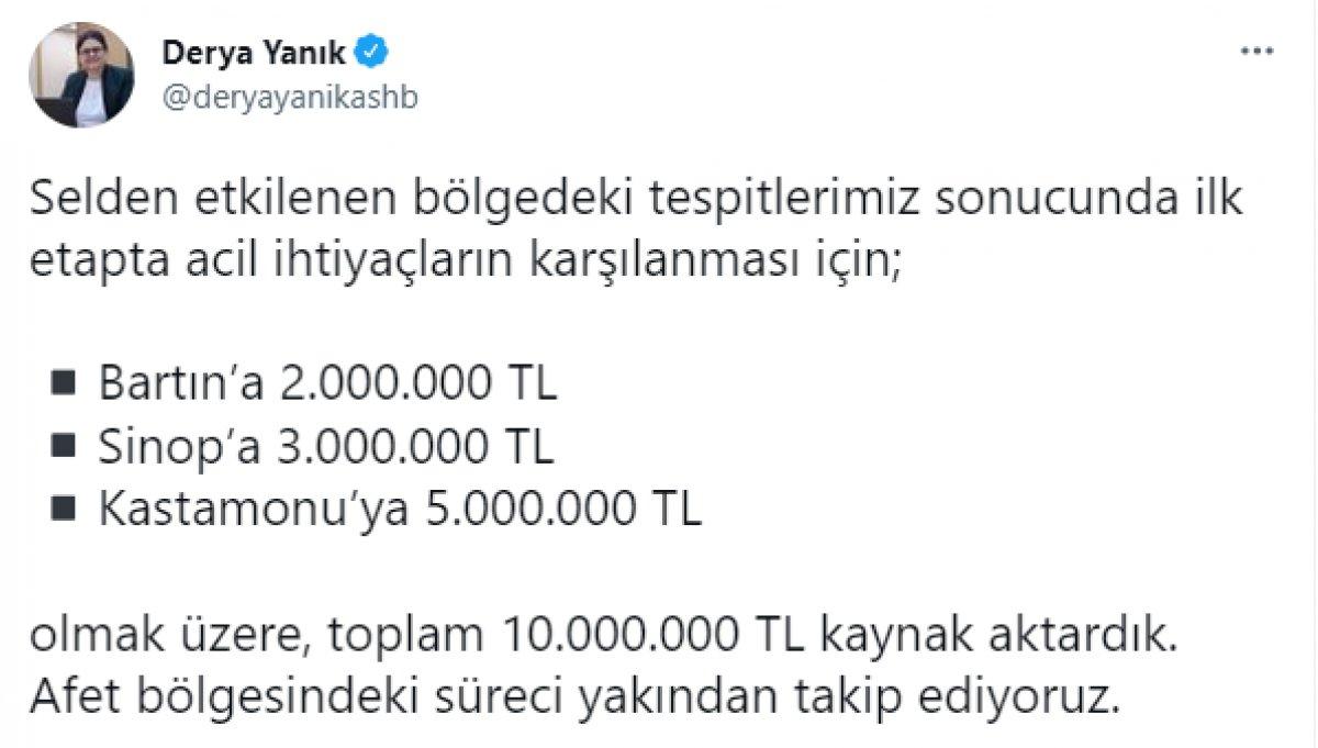 Selden etkilenen bölgelere 10 milyon lira kaynak aktarıldı #1
