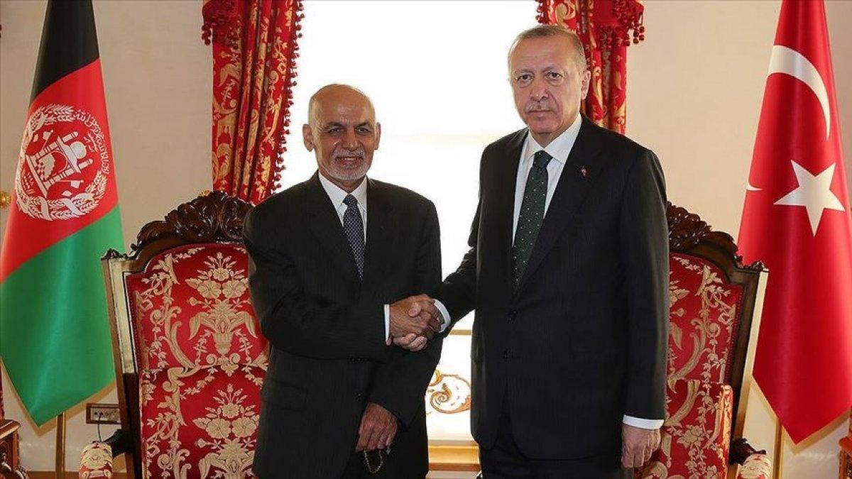 Cumhurbaşkanı Erdoğan, Afganistan Cumhurbaşkanı ile görüştü #1