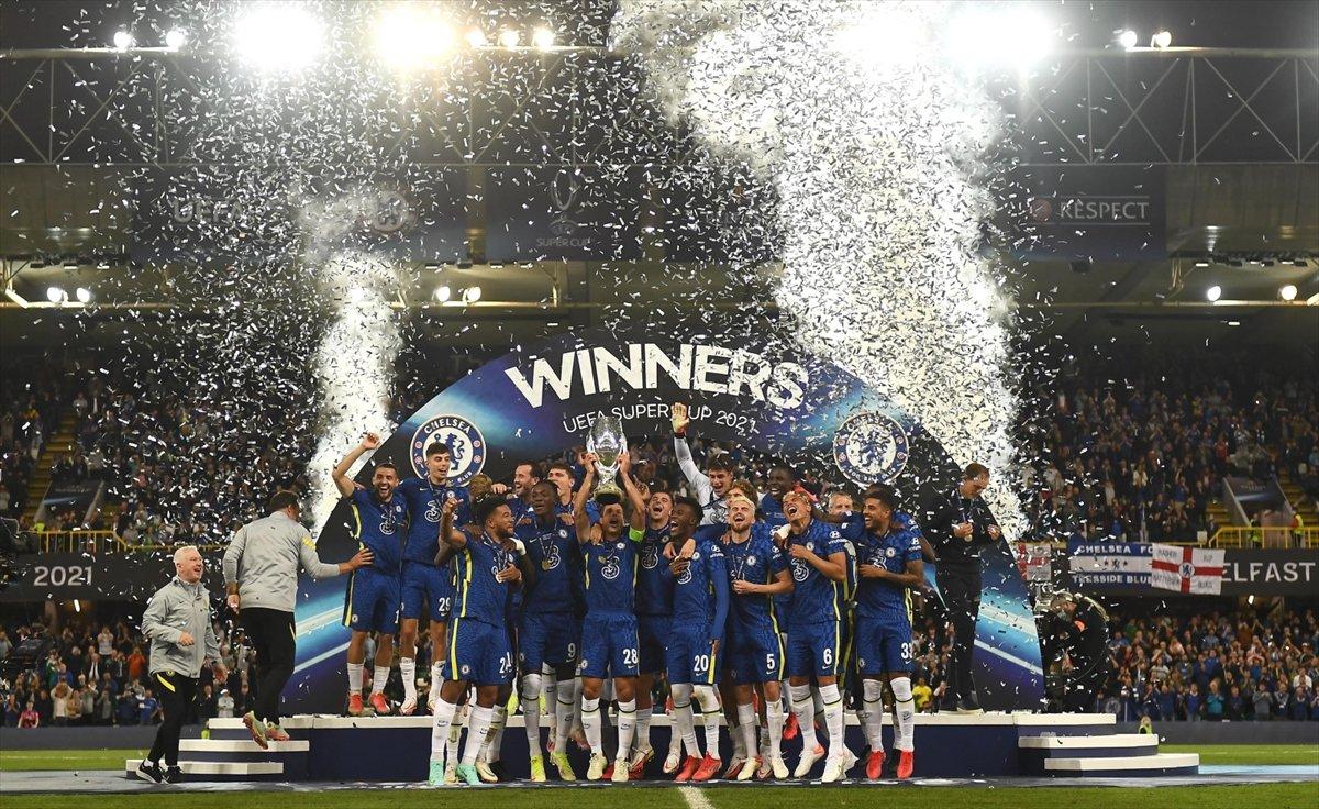UEFA Süper Kupa sını Villarreal i penaltılarla yenen Chelsea kazandı #7