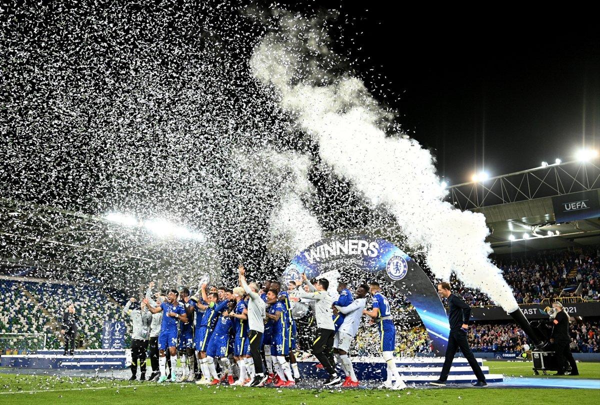 UEFA Süper Kupa sını Villarreal i penaltılarla yenen Chelsea kazandı #8