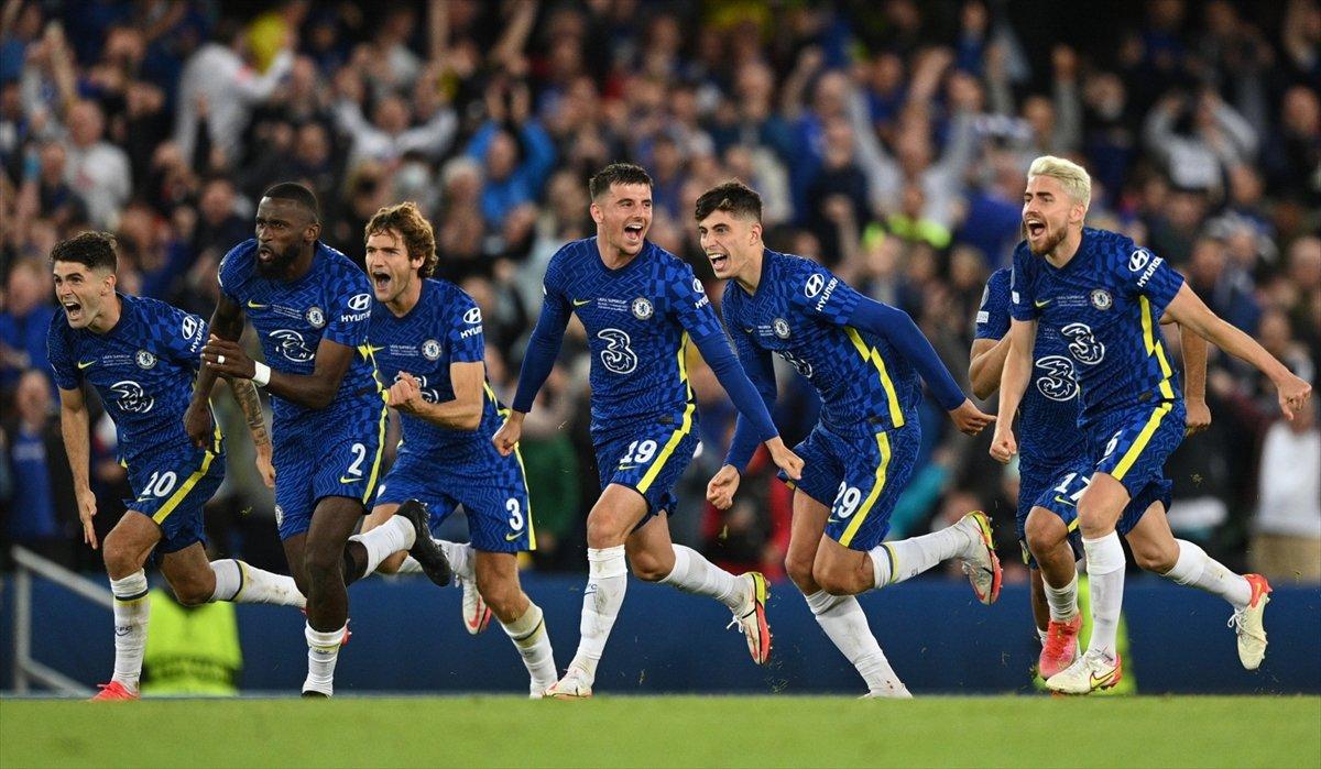 UEFA Süper Kupa sını Villarreal i penaltılarla yenen Chelsea kazandı #5
