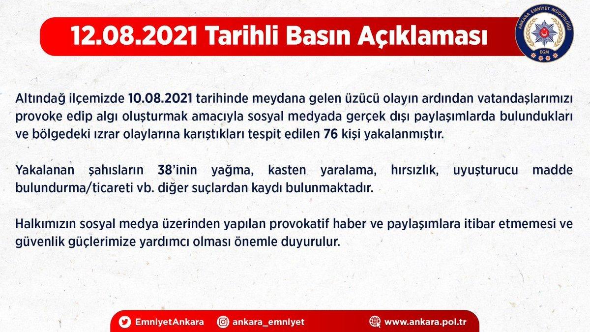 Altındağ daki provokasyona ilişkin 76 kişi yakalandı #3