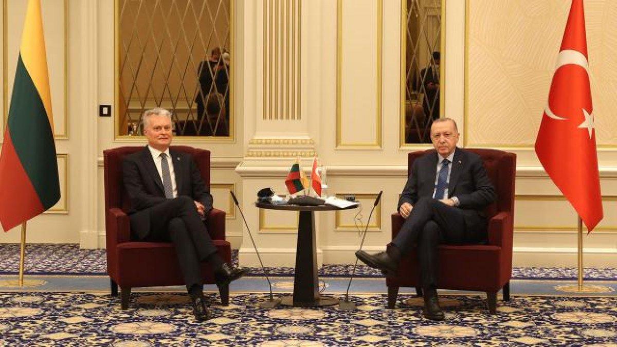 Cumhurbaşkanı Erdoğan, Litvanya Cumhurbaşkanı ile görüştü #1