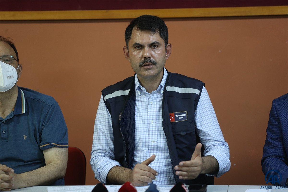 Bakan Kurum: En kısa zamanda selzede vatandaşların yaralarını saracağız #3