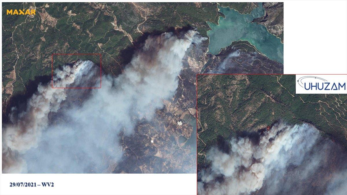 Akdeniz ve Ege de yanan alanlar uzaydan görüntülendi #8