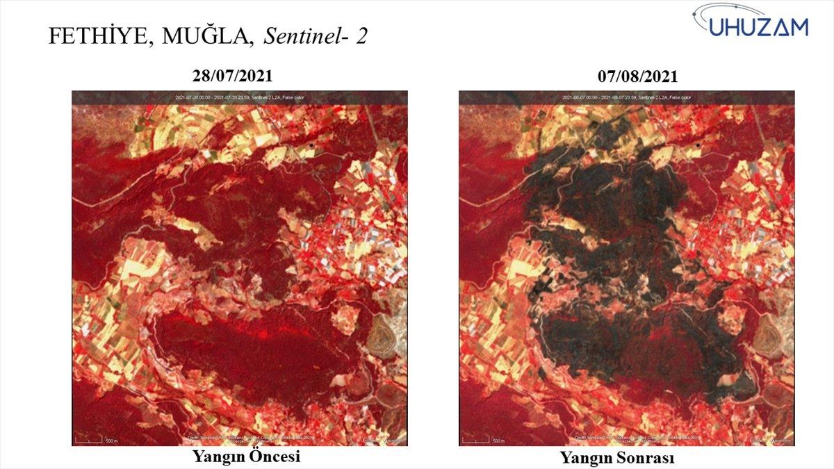 Akdeniz ve Ege de yanan alanlar uzaydan görüntülendi #15