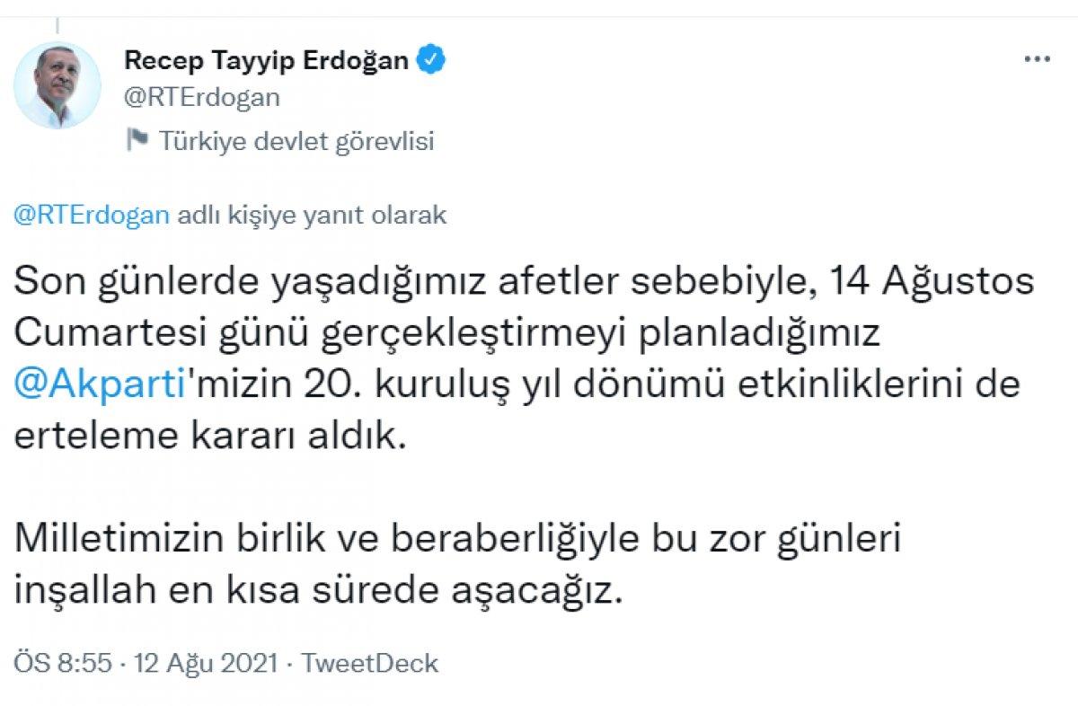 Cumhurbaşkanı Erdoğan sel bölgesine gidiyor #1