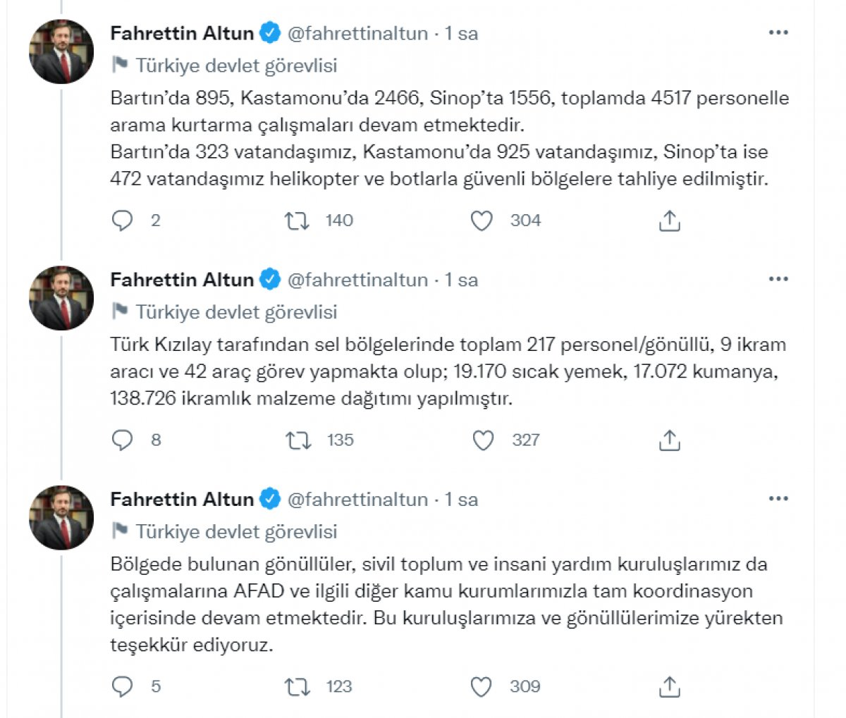 Fahrettin Altun: Dezenformasyonlara itibar etmeyiniz #3