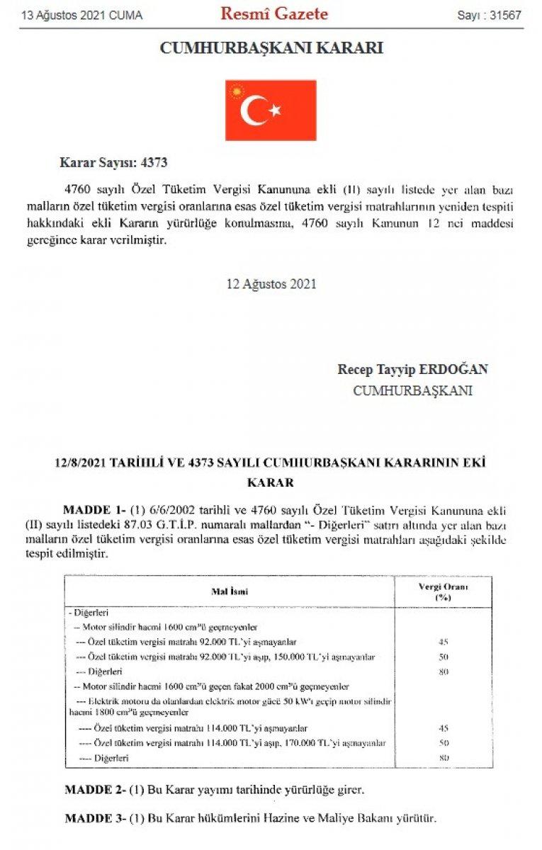 Yeni ÖTV matrah kararı ile otomobil fiyatları düşecek #3