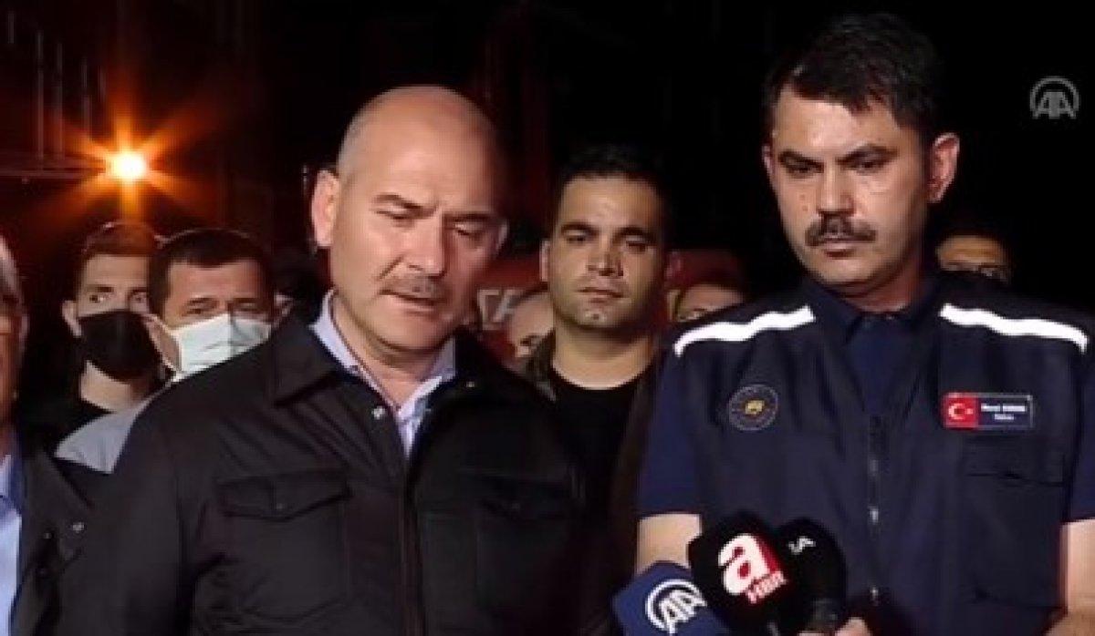 Süleyman Soylu ile Murat Kurum, Kastamonu daki selin son durumunu açıkladı #1